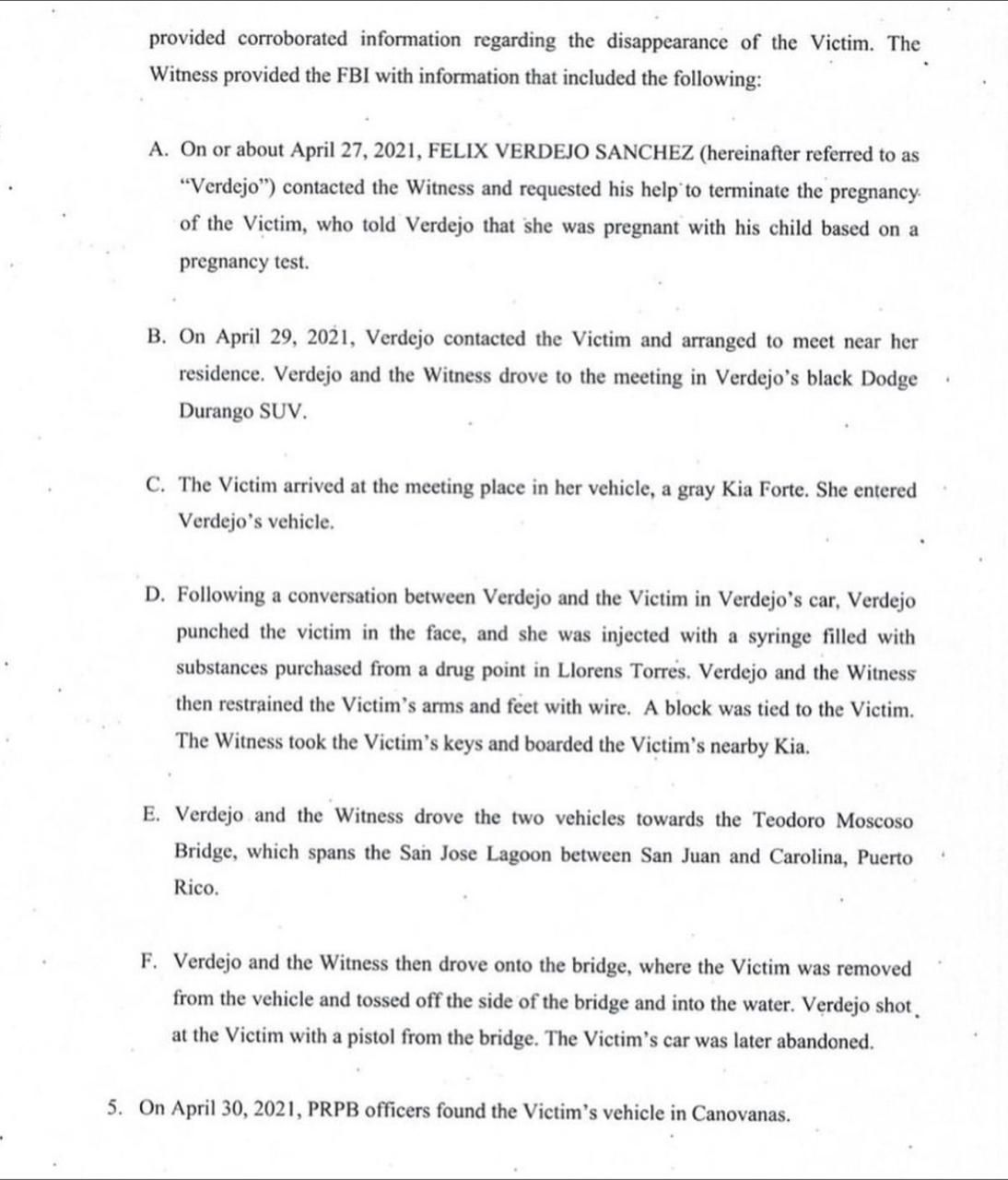 Félix Verdejo informe FBI 2