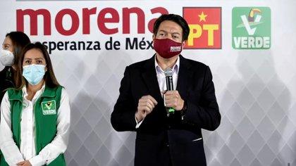 """""""En 2021 la disyuntiva para los ciudadanos va a ser entre la corrupción y la transformación"""", aseguró Delgado (Foto: Captura de pantalla Morena)"""