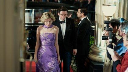 La actriz quiso retratar la bulimia que experimentó la princesa durante su boda (Foto: Olly Upton / Netflix)