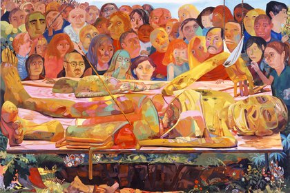 """""""Presentación"""" (2005) de Dana Schutz"""