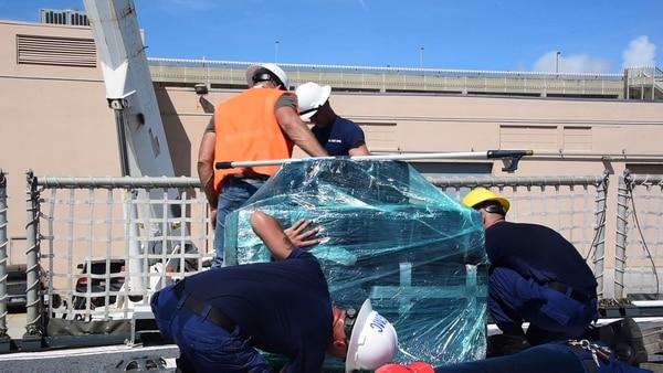 Varios trabajadores participaron del operativo