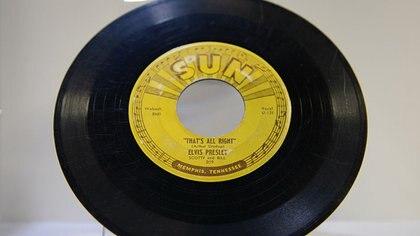 Un simple de Elvis grabado en Sun Records de Memphis, donde todo comenzó AFP 162