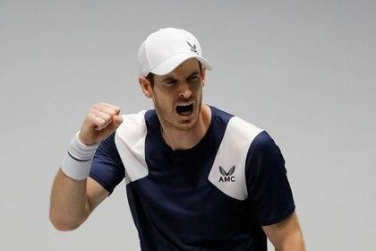 Imagen de archivo del tenista británico Andy Murray durante un partido por la Davis Cup Finals, en Madrid - Noviembre 20, 2019  REUTERS/Susana Vera