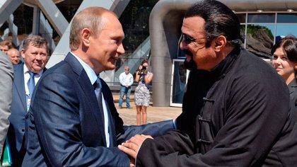 El presidente de Rusia y Steven Seagal