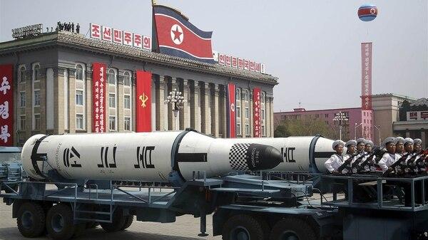 Uno de los últimos misiles marítimos de la Armada norcoreana