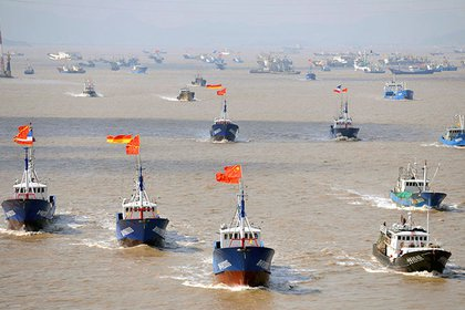 Una flotilla de barcos de pesca chinos se dirige hacia el Mar Oriental de China y un grupo de islas deshabitadas que Japón y China reclaman. (REUTERS / stringer/archivo)