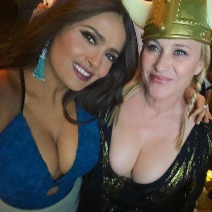 Salma y su amiga Patricia Arquette
