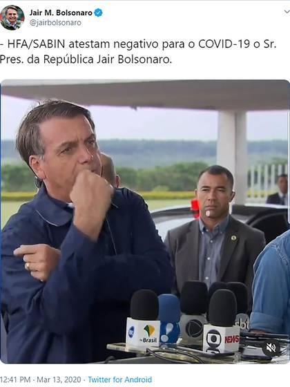 El tuit de Jair Bolsonaro