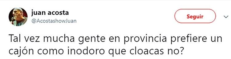 El tuit de Juan Acosta