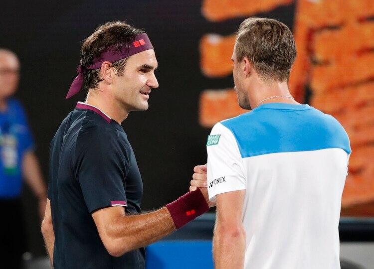 Federer superó a Johnson por 6-3, 6-2 y 6-2 - REUTERS/Issei Kato