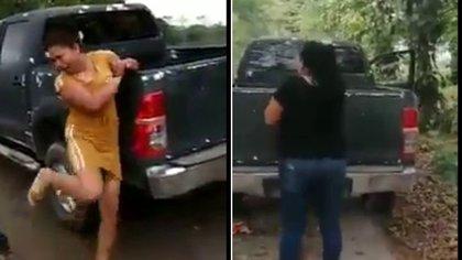 Dos mujeres identificadas como presuntas halconas, vigilantes de criminales, fueron torturadas por no avisar sobre un operativo en Huimanguillo, Tabasco