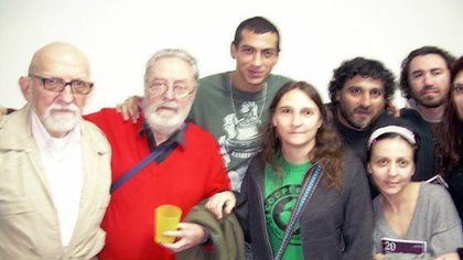 Fernández Laborda,el primero desde la izquierda