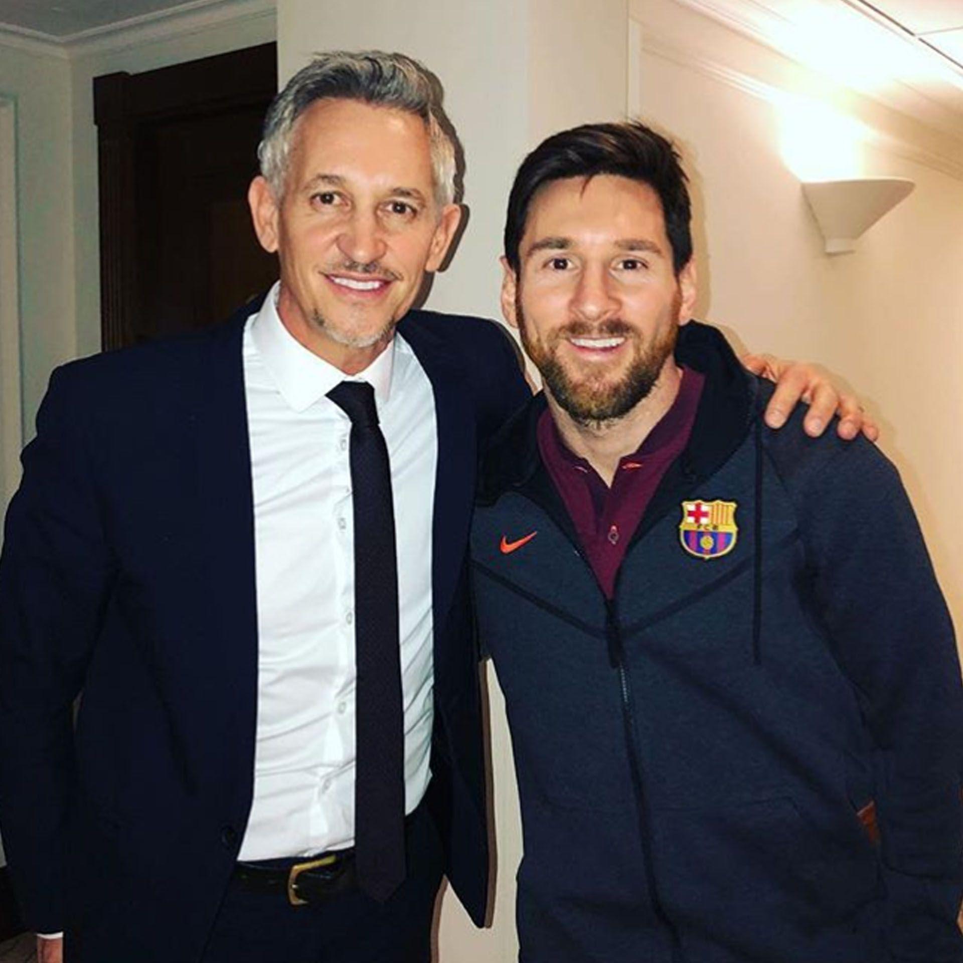 Gary Lineker y Lionel Messi (@garylineker)