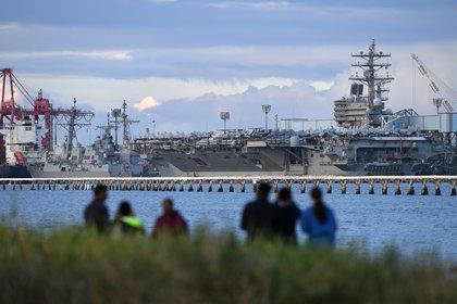 08/07/2019 Imagen de archivo del portaaeronaves USS Ronald Reagan. POLITICA INTERNACIONAL Dan Peled/AAP/dpa