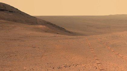 Una imagen de Marte provista por el rover Opportunity que operó en el planeta rojo desde 2004 hasta 2018  (NASA)