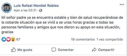 (Facebook: Luis Rafael Montiel Robles)