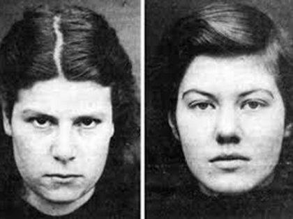 Pauline Parker y su amiga Juliet Hulme: tenían 16 y 15 años cuando asesinaron a golpes a la madre de la primera