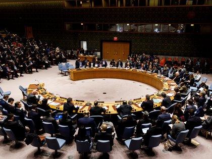 Vista general de una reunión en el Consejo de Seguridad de Naciones Unidas solicitada por Estados Unidos, en Nueva York, Nueva York (EE. UU.). EFE/Justin Lane/Archivo