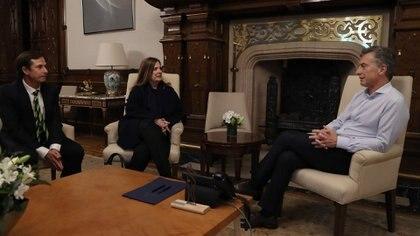 Mauricio Macri recibió a Daniel Lipovetzky y a Carmen Polledo