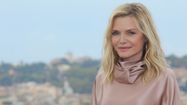Mandatory Credit: Photo by Marco Provvisionato/IPA/Shutterstock (10437986aj) Michelle Pfeiffer 'Maleficent - Mistress Of Evil' film photocall, Rome, Italy - 07 Oct 2019