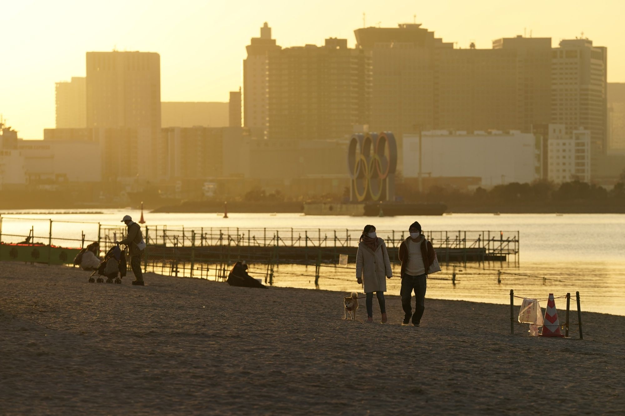Odaiba Marine Park, the venue for triathlon and marathon swimming events during Tokyo 2020 Olympic Games.