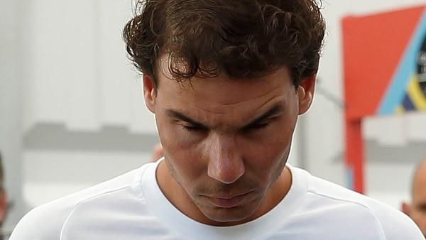 El español se resintió de la lesión que sufrió en el Abierto de Australia (EFE)