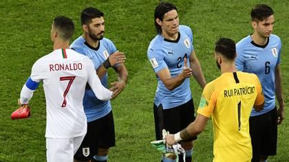 Cristiano se topó con Bentancur en el vestuario (AFP)