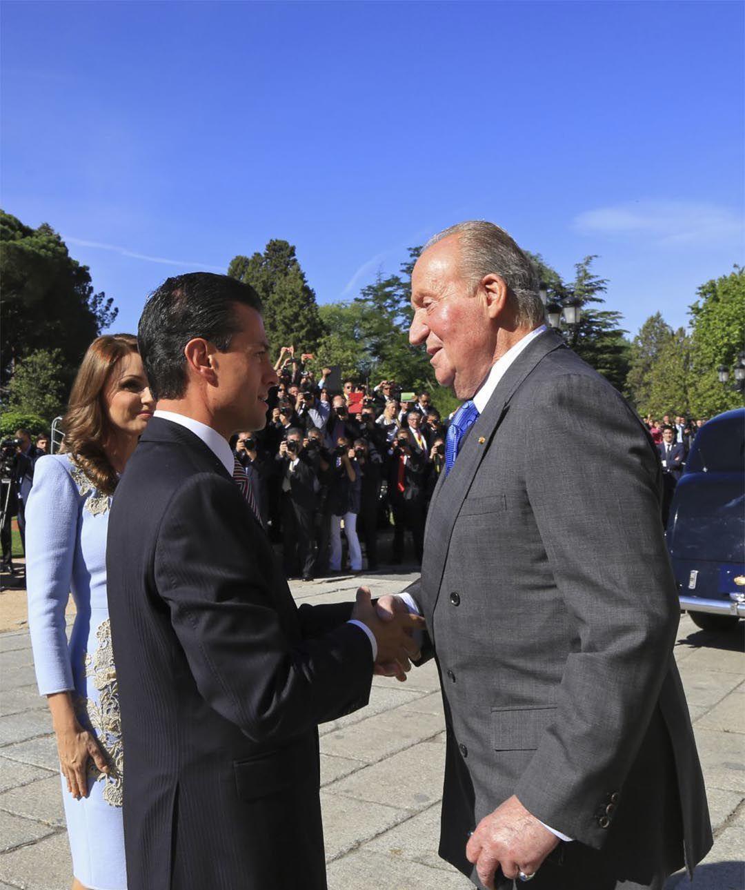 Peña Nieto y el rey de España Juan Carlos I (Foto: Cuartoscuro)