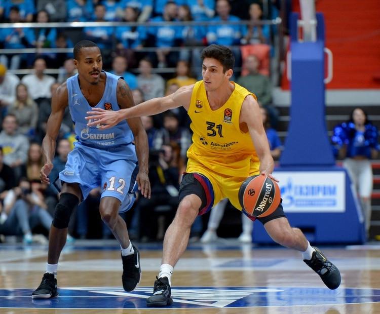 Leandro Bolmaro debutó en la EuroLeague ante el Zenit (Andrey Pronin/Shutterstock)