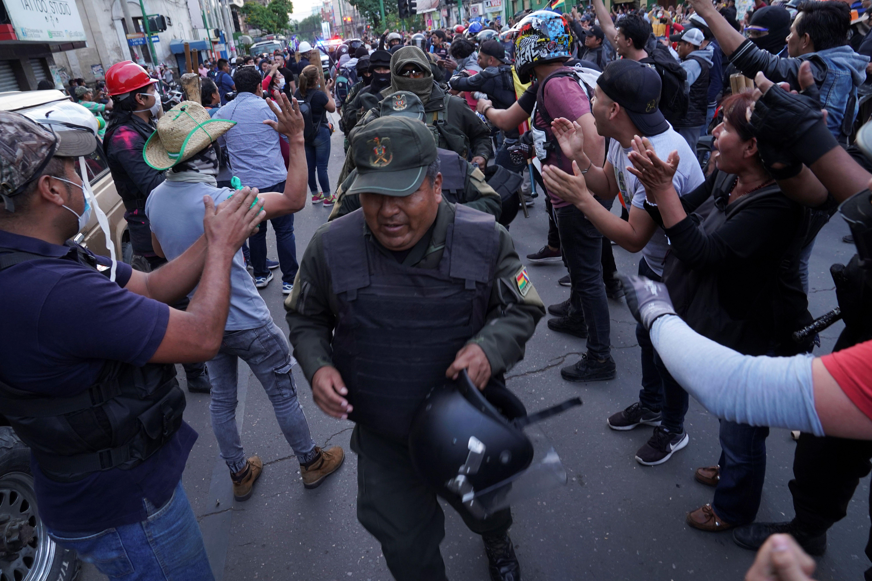 Manifestaciones en Cochabamba.