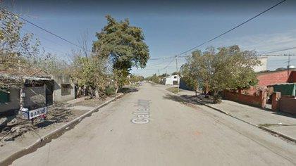 La calle donde ocurrió el crimen en Ingenio Lastenia (Google Street View)