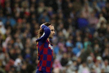 El delantero francés Antoine Griezmann fue suplente en el partido contra el Atlético (EFE/ Juanjo Martín/ archivo)