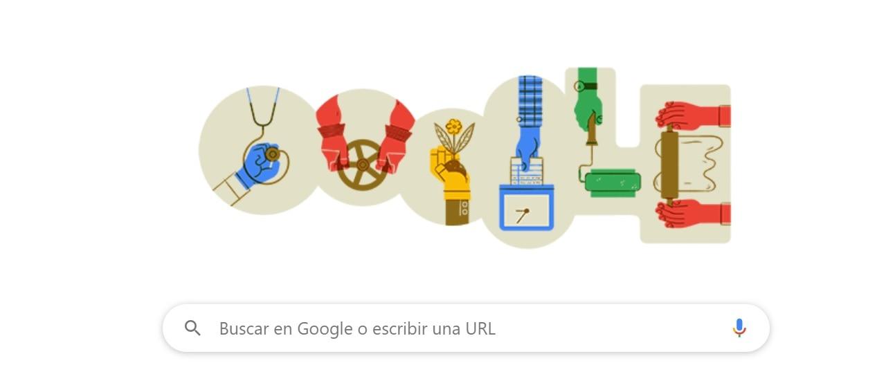 Google recuerda el Día del Trabajo con un doodle - Infobae