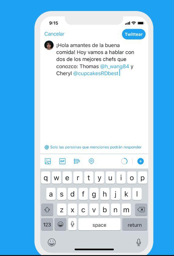 Esta herramienta permite gestionar las interacciones (Imágenes del comunicado oficial de twitter)