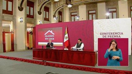 Hugo López-Gatell, subsecretario de Prevención y Promoción de la Salud, señaló que en la última conferencia hubo confusión en varios medios por el aumento de muertes por COVID- 19 (Captura de pantalla: Gobierno de México)