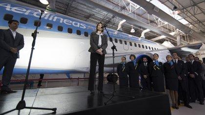 Isela Costantini estuvo menos de un año como presidente de Aerolíneas Argentinas (Adrián Escandar)