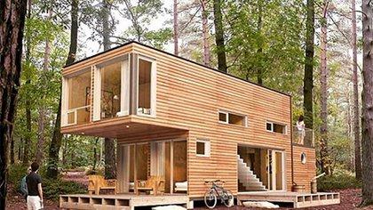 Este tipo de viviendas reducen al mínimo el uso de materiales de construcción tradicionales como la madera, el hormigón, entre otras (@rebox.tech)