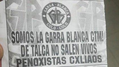 Panfletos con amenazas a los jugadores de la Universidad de Concepción, que enfrentarán a Colo-Colo este miércoles