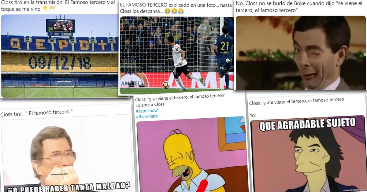 """Mariano Closs relató el """"famoso tercero"""" de River y los hinchas llenaron de memes las redes sociales - Infobae"""