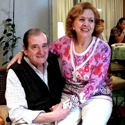 Néstor y Violeta, en una foto de 2017