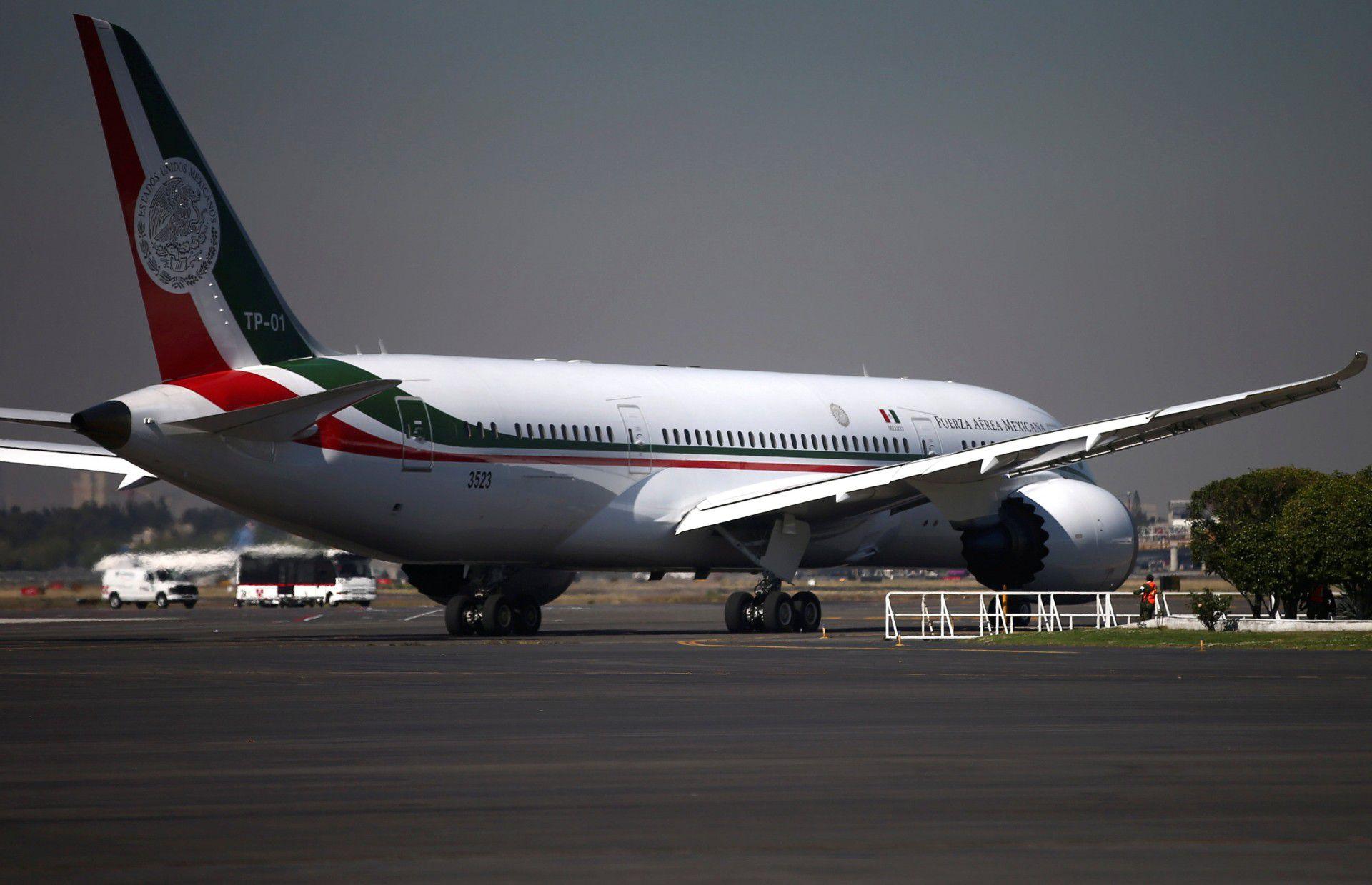 """El  avión presidencial TP-01 """"José María Morelos y Pavón"""" regresó a México esta semana. (Foto: Reuters)"""