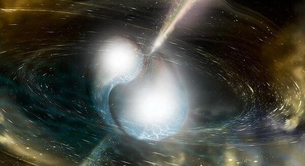 El choque de dos estrellas de neutrones, fue un evento que ocurrió a una cercanía a la Tierra de 130 millones de años luz