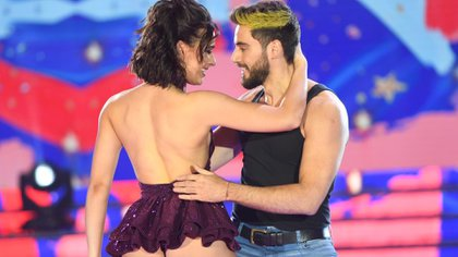 """Nico Occhiato y Flor Jazmín Peña, campeones del """"Bailando 2019"""", en medio de una coreografía hoy impracticable (Foto: LaFlia / Negro Luengo)"""