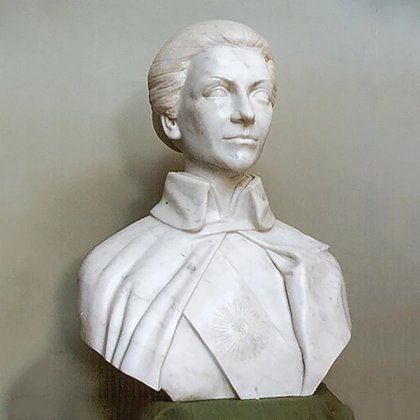 La obra recuperada de un depósito privado ya está en el eje de la curadora del Museo Casa Rosada. Está hecha sobre mármol de Carrara importado de Italia y mide 75 centímetros de altura