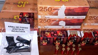 Munición incautada en Perú (Interpol)