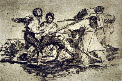 Otro de los dibujos de Goya sobe la llamada Guerra de Independencia de España