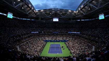 NEW YORK, NEW YORK - SEPTEMBER 08: A general view is seen during the Men's Singles final match between Rafael Nadal of Spain and Daniil Medvedev of Russia on day fourteen of the 2019 US Open at the USTA Billie Jean King National Tennis Center on September 08, 2019 in the Queens borough of New York City.   Clive Brunskill/Getty Images/AFP