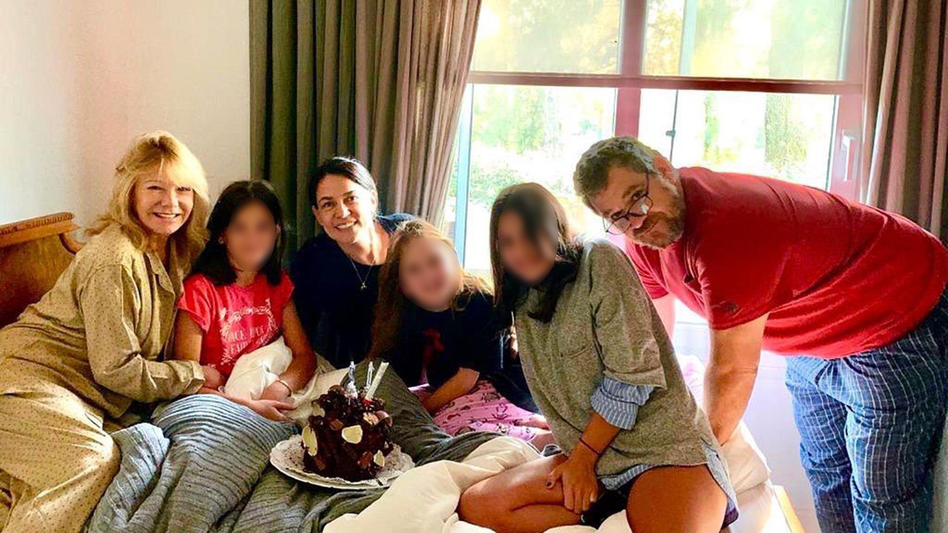 Soledad Silveyra con su familia en cuarentena (Instagram)