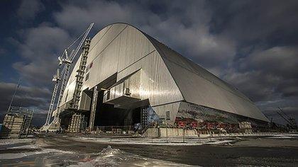 El nuevo sarcófago seguro en la Central Nuclear de Chernóbil. (EBRD)