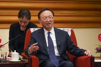 El responsable del Partido Comunista de China (PCCh) para Asuntos Exteriores, Yang Jiechi (EFE/EPA/Andrea Verdelli / Archivo)